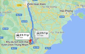 Thuê xe đi Thung Nham Ninh Bình