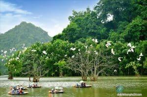 Thuê xe đi khu du lịch sinh thái Thung Nham